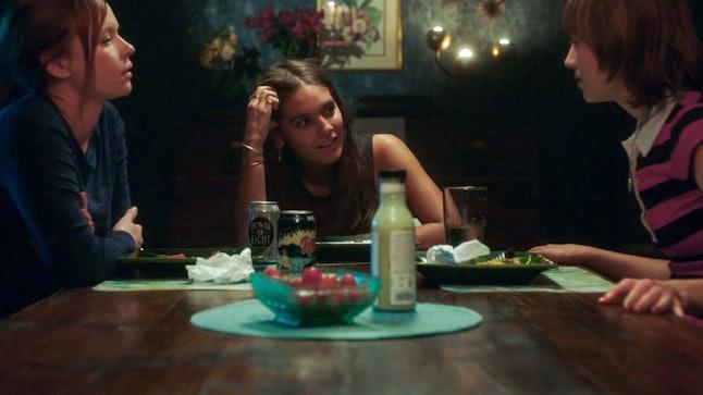 Chloe (Thora Birch), Sadie (Caitlin Stasey), and Nicole (Sasha Frolova) are reunited in Lifetime's 'Kindred Spirits.'