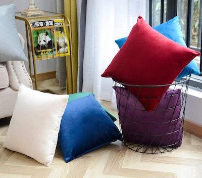 TEMNETU Decorative Velvet Throw Pillow Cover