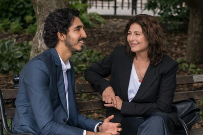 """Dev Patel as Joshua and Catherine Keener as Julie in the Modern Love episode """"When Cupid Is a Prying Journalist"""""""