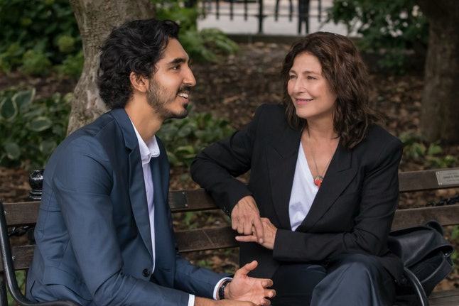 "Dev Patel as Joshua and Catherine Keener as Julie in the Modern Love episode ""When Cupid Is a Prying Journalist"""