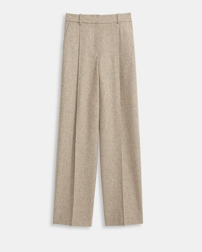 Speckled Wool Pleated Trousers