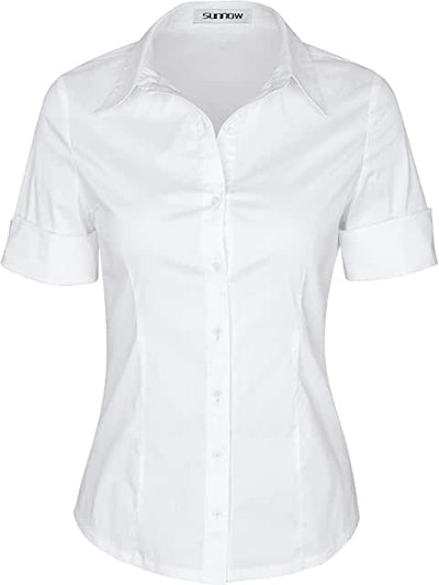 SUNNOW Button Down Blouse (Small - XXX Large)