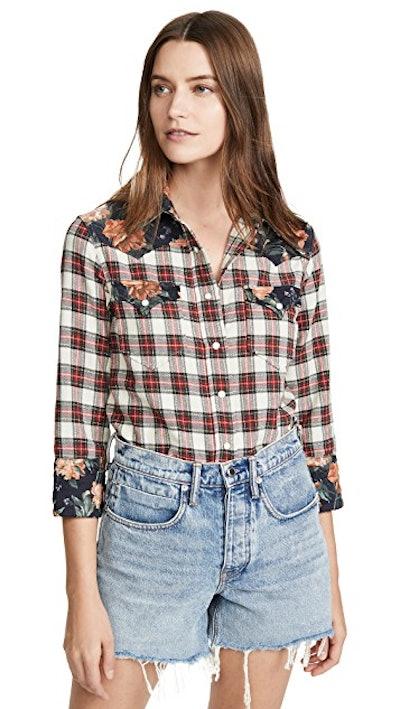 Exaggerated Collar Cowboy Shirt