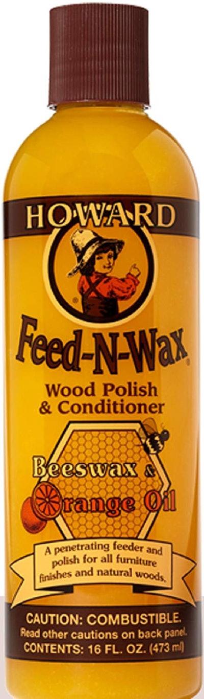 Howard Feed-N-Wax Wood Polish and Conditioner, 16 oz.