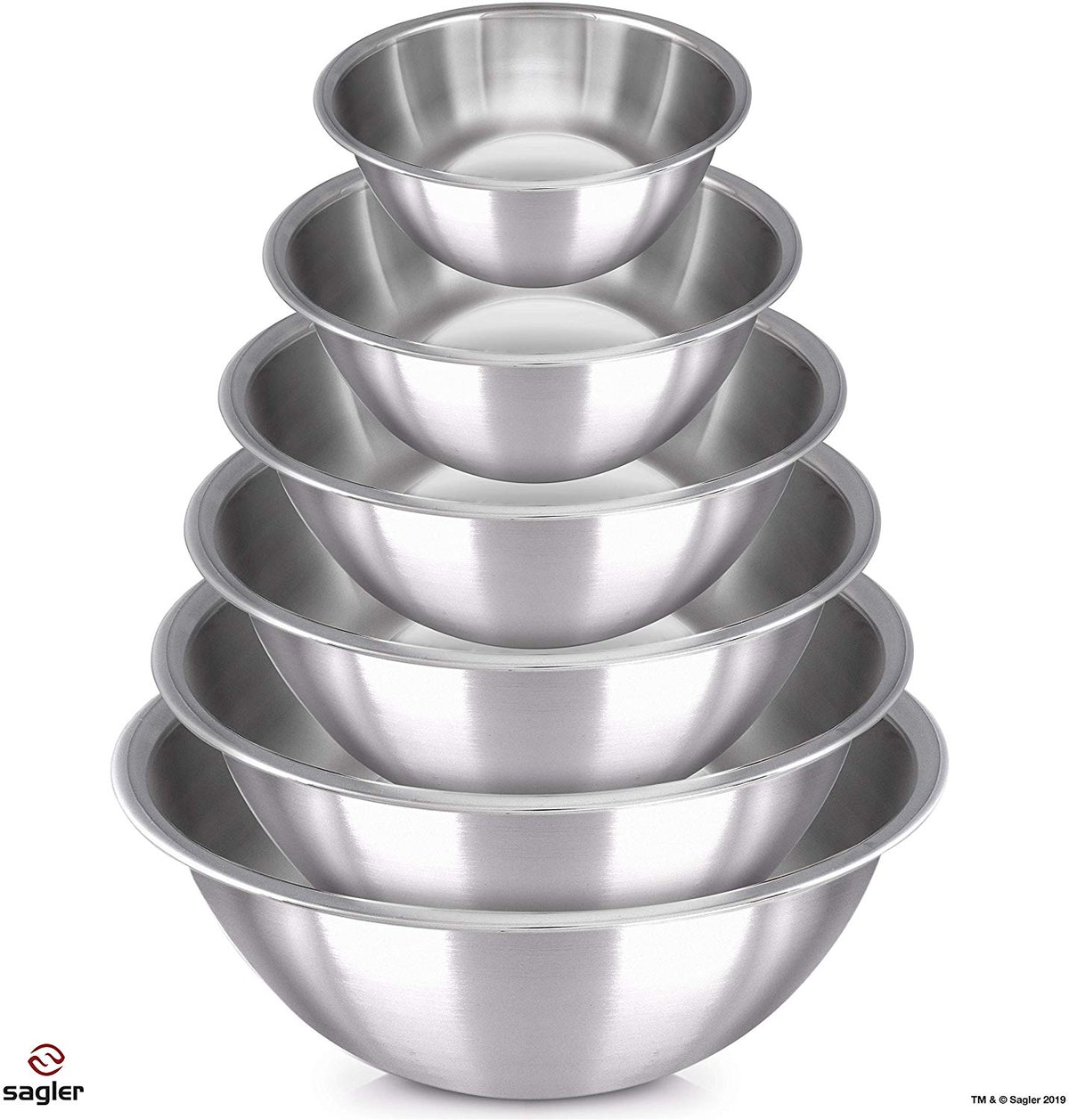 Sagler Stainless Steel Mixing Bowls (6-Pack)