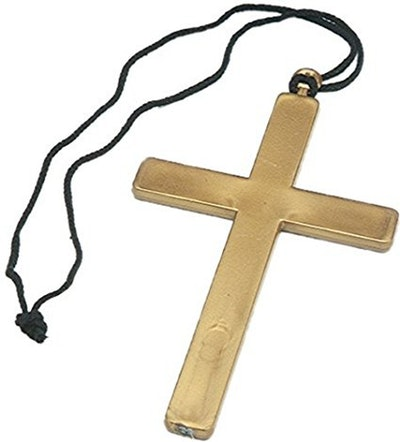 Gold Cross Costume Necklace