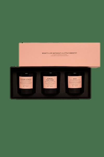 Holiday Edition Cedar Stack, Ask, and Hinoki Fantôme Votive Set