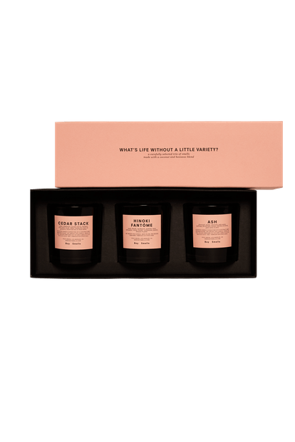 Holiday Edition Cedar Stack, Ask, and Hinoki Fantôme Votive Set