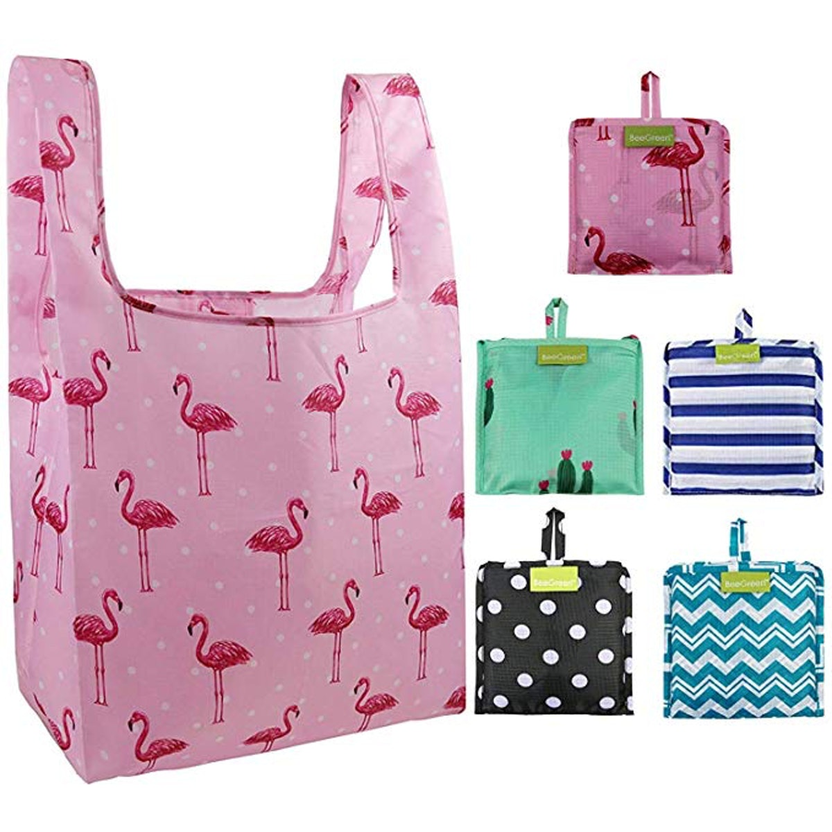Foldable Reusable Grocery Bags (5-Pack)