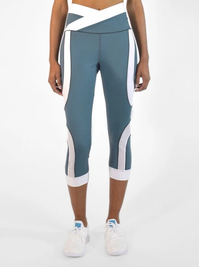 7/8 Curved Leggings in Mint