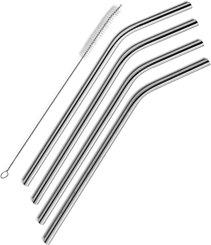 SipWell Stainless Steel Drinking Straws (Set of 4)