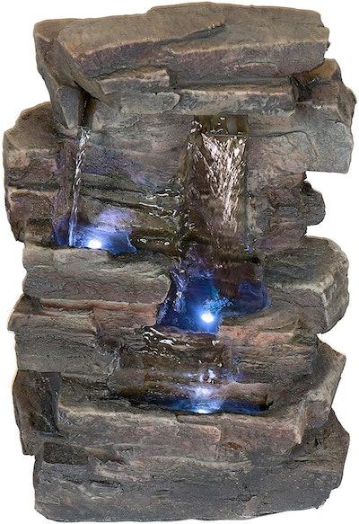 Alpine 4-Tier Cascading Tabletop Fountain