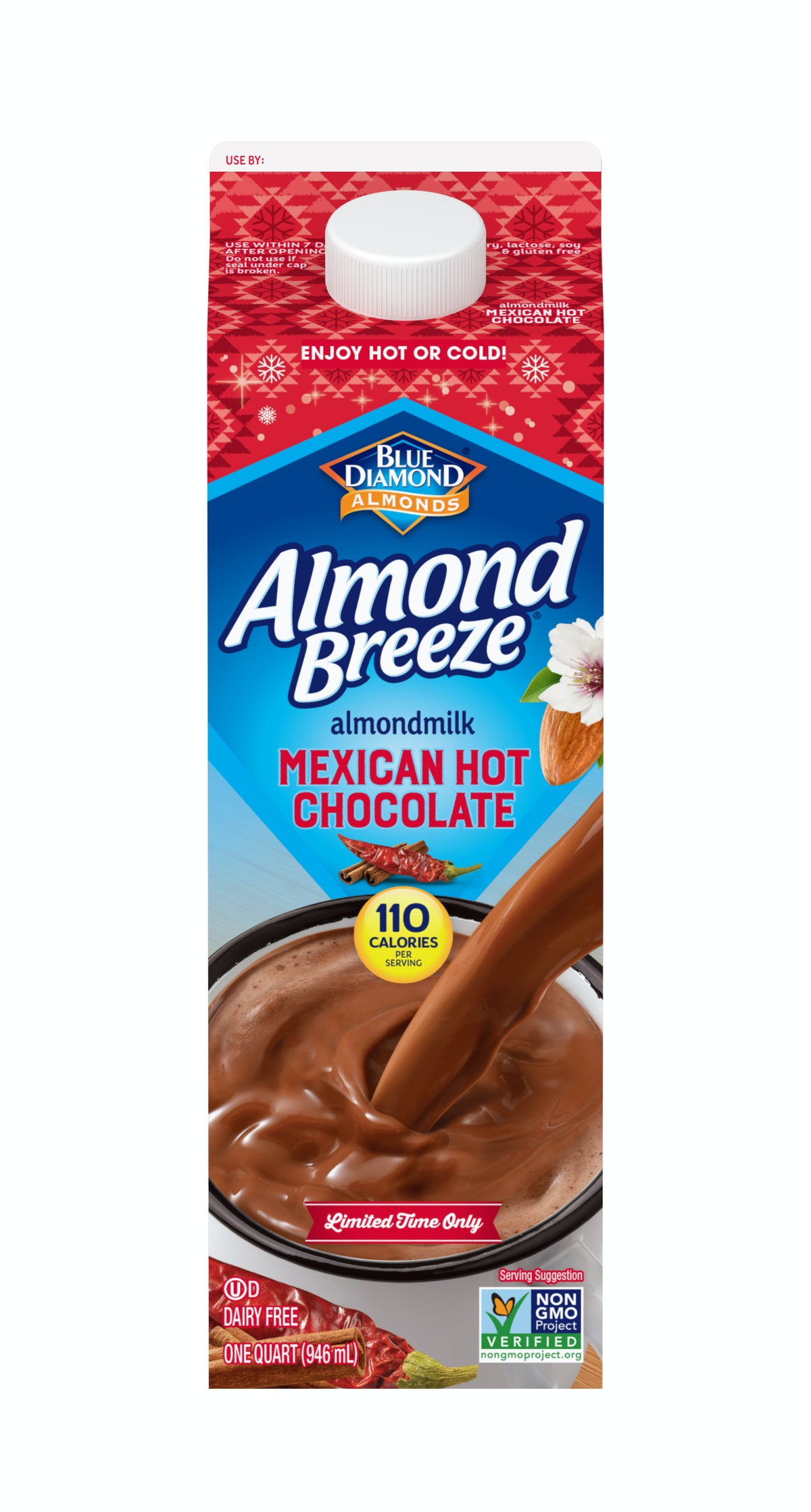 Blue Diamond Almond Breeze Mexican Hot Chocolate is the perfect way to add a latin american taste to your holiday season.-
