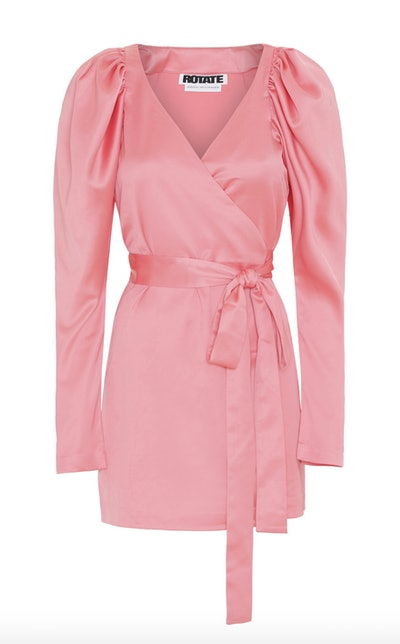 Wrap Satin Mini Dress