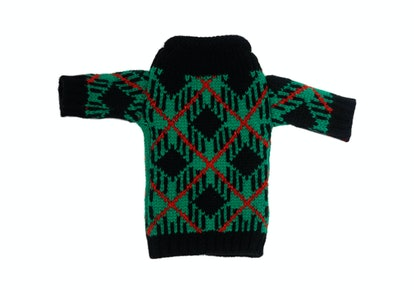 This wine sweater is too ugly/cute.