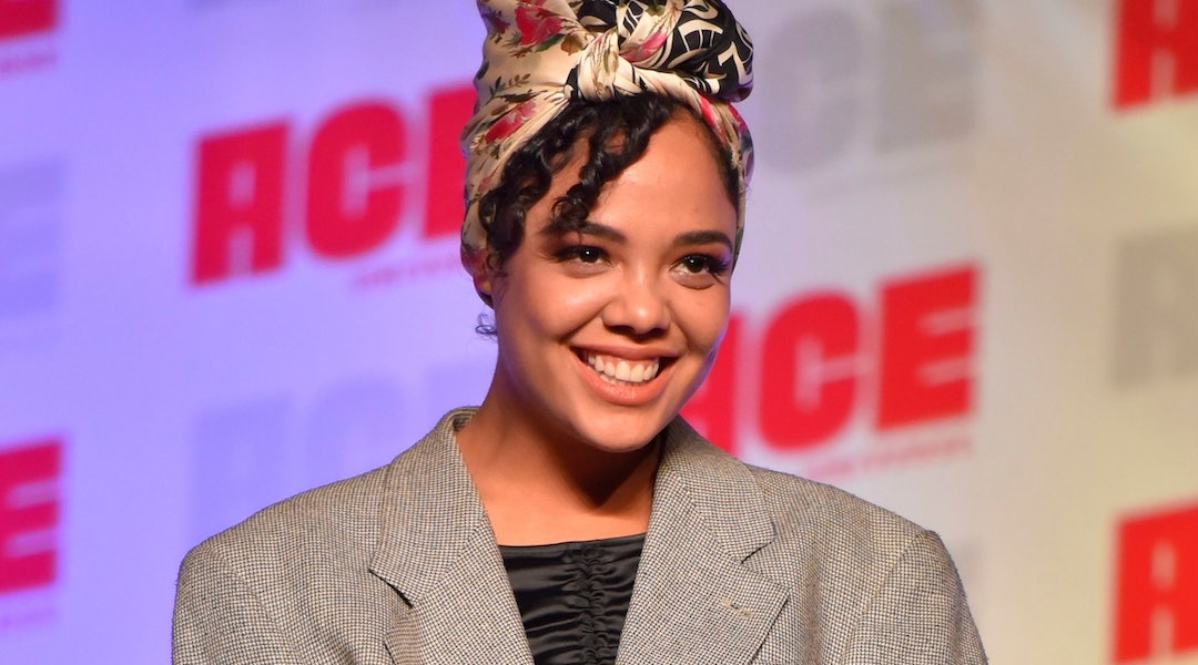 Tessa Thompson's bubble ponytail will inspire your next going-out look