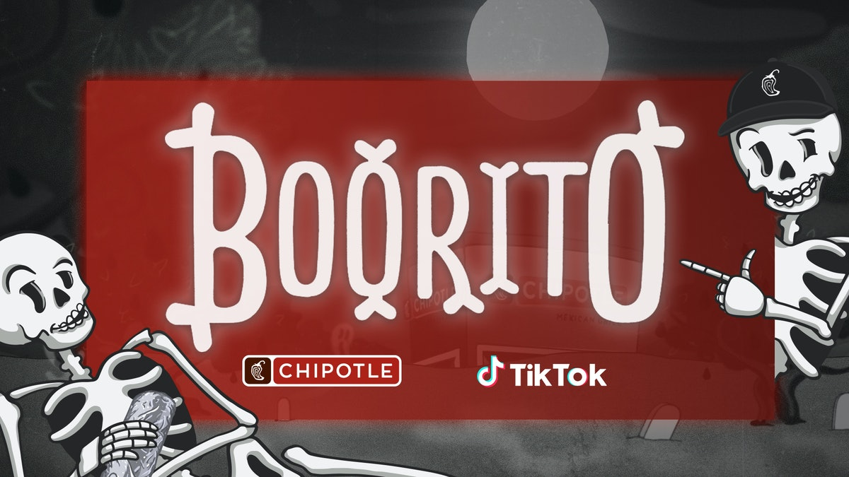 Chipotle's Halloween 2019 #Boorito TikTok Challenge is bringing free burritos for a year to five top winners this 2019.