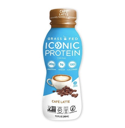 Iconic Grass Fed Protein Drinks, Cafe Latte (12-Pack)