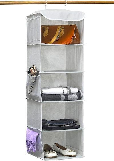 Simple Houseware 5-Shelf Hanging Closet Organizer