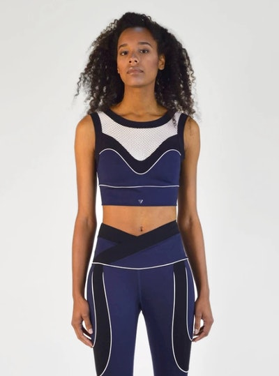 Curved Sports Bra In Navy