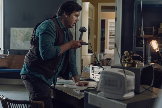 Eugene using his radio on The Walking Dead