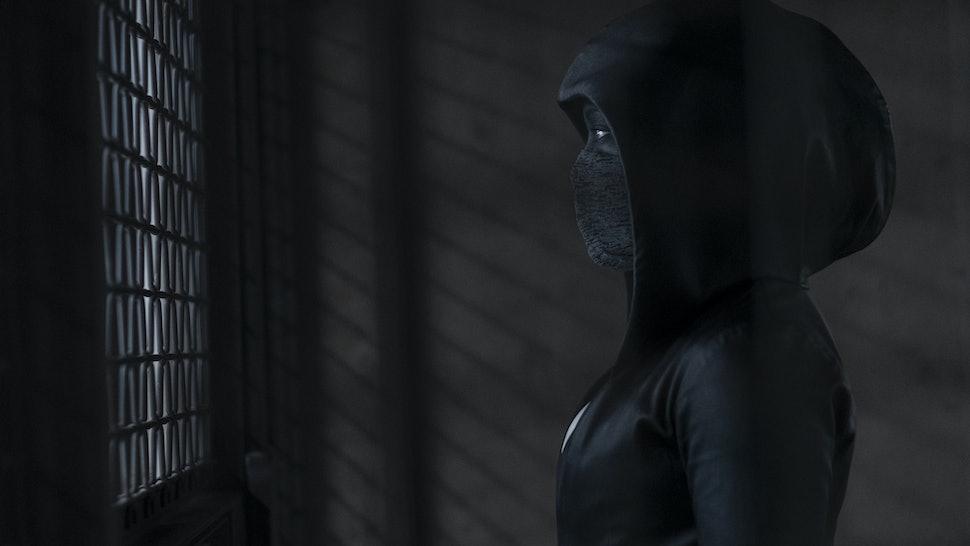 Regina King as Sister Night in the alternate 2019 of Watchmen