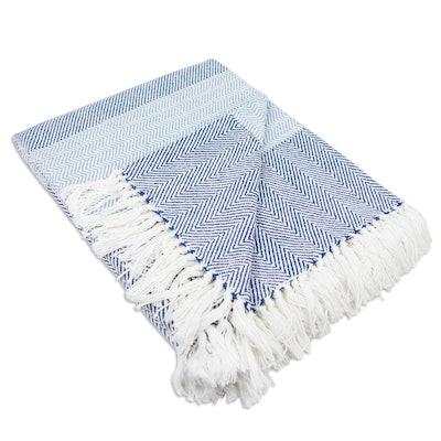 DII Rustic Farmhouse Cotton Stripe Throw Blanket