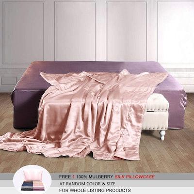 THXSILK Mulberry Silk Throw Blanket