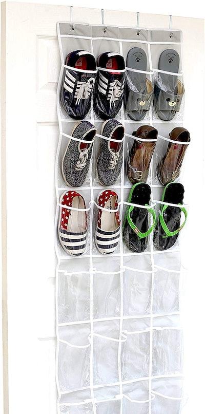 SimpleHouseware Over-The-Door Hanging Shoe Organizer,