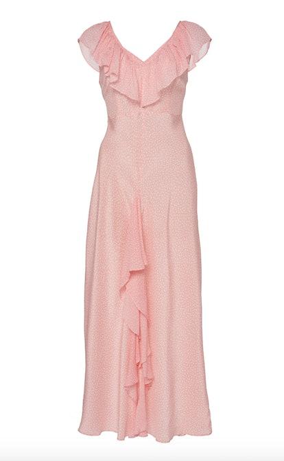 Antoinette Frilled Silk Midi Dress