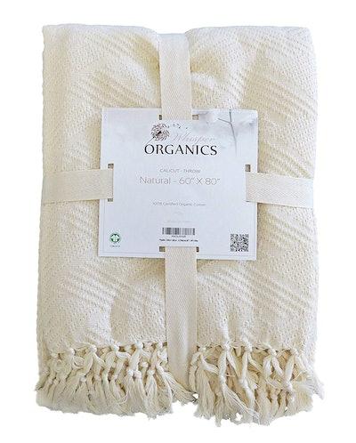 Whisper Organics Cotton Throw Blanket