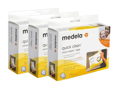 Medela Quick Clean Micro Steam Bags For Bottles And Breast Pump Parts (15-Pack)