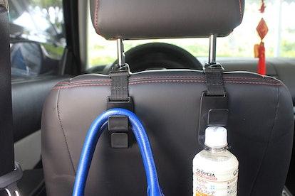 lebogner Car Seat Headrest Hooks (4-Pack)