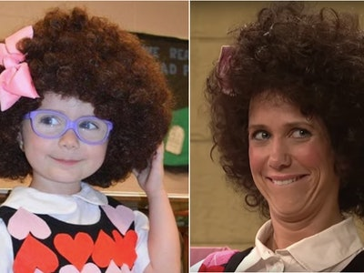 "Everly Jones dressed as ""Gilly"" from SNL for this year's Halloween costume."