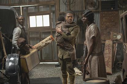Dajour Ashwood, Steven Norfleet, Alexis Louder in HBO's Watchmen.