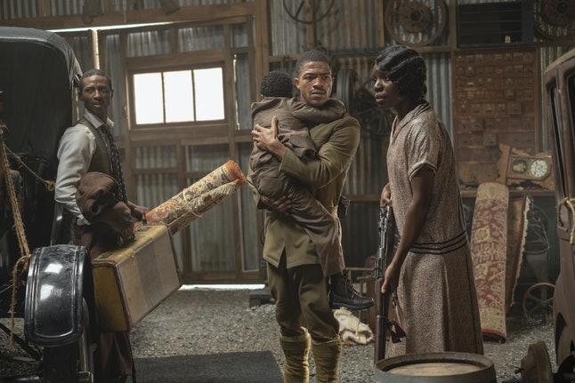 Dajour Ashwood, Steven Norfleet, Alexis Louder in HBO's Watchmen.