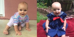 """Baby Dressed Like Michelle Tanner from """"Full House"""""""