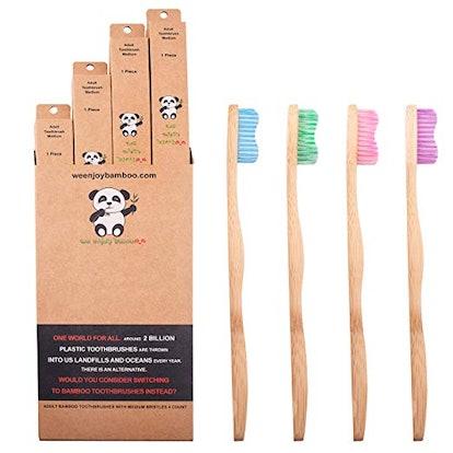 Natural Organic Eco Friendly Bamboo Toothbrush