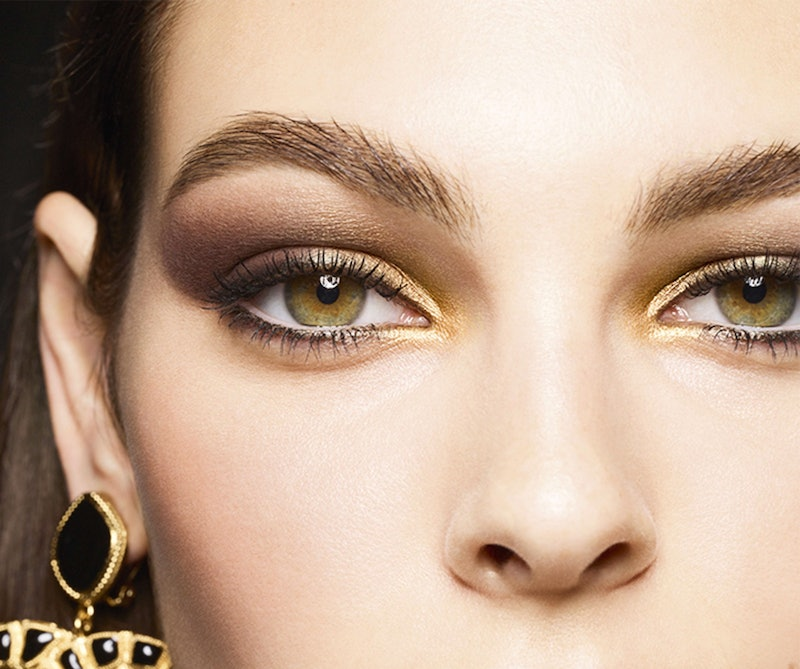 The Chanel holiday 2019 makeup collection was inspired by the baroque period and includes gilded rich eye shadows and glossy lipsticks.