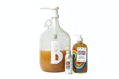 Bathing Culture's Mind and Body Wash, available in travel size and bulk refill