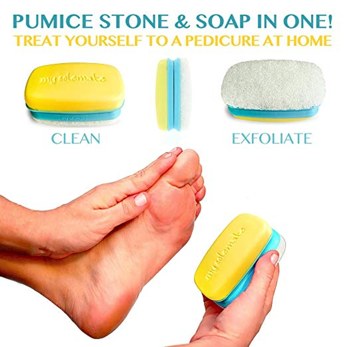 My Solemate 2 in 1 Foot Scrubber And Callus Remover