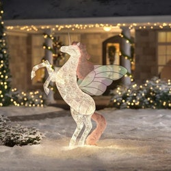 Home Depot's light-up Christmas Unicorn is six feet tall.