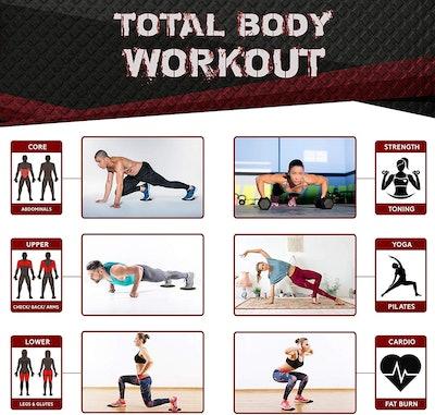 Iron Core Fitness Sliders (2-Pack)