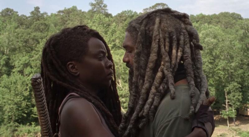 Danai Gurira as Michonne and Khary Payton as Ezekiel in The Walking Dead Season 10, Episode 4
