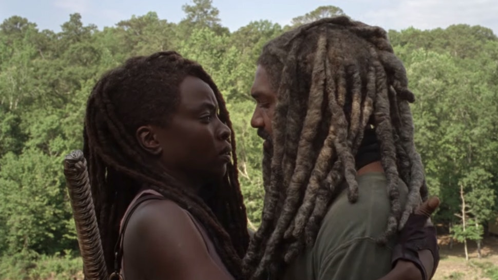 Danai Gurira as Michonne and Khary Payton as Ezekiel in The Walking Dead Season 10, Episode 4