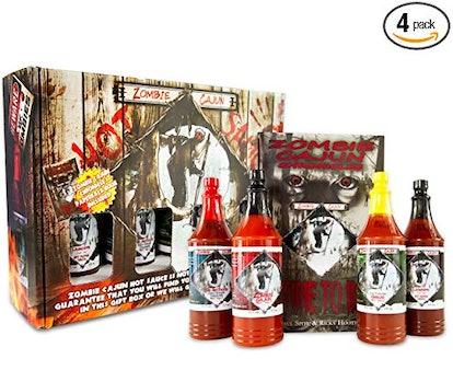 Zombie Cajun Hot Sauce Gift Set (4-Pack)