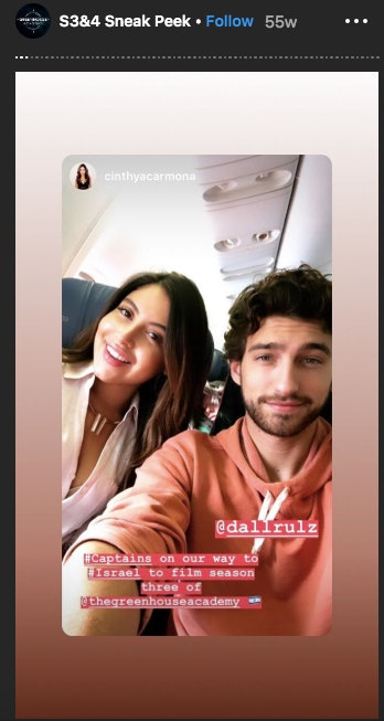 The Greenhouse Academy cast members Cinthya Carmona and Dallas Hart travel to film Season 3.