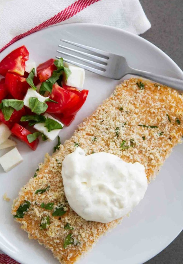 Taste And Tell's crispy salmon with tartar sauce recipe is a tasty alternative to a fried fish dish