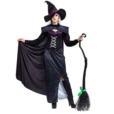 Gothic Wicked Purple Deluxe Set with Cape and Hat