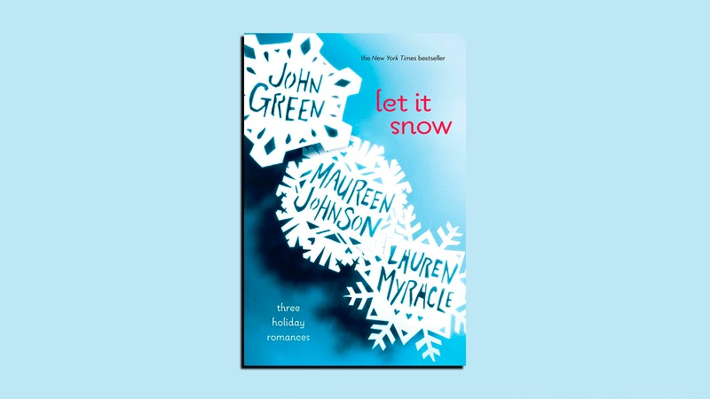 Pictured is the cover of 'Let It Snow: Three Holiday Romances' by John Green, Maureen Johnson, and Lauren Myracle. The movie adaptation of the book is coming to Netflix this November.